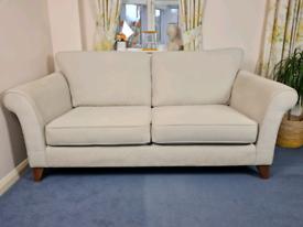 Furniture Village Regent Street 3 Seater Sofa in Light Beige RRP £800