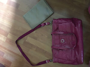 Authentic Coach leather diaper or laptop bag