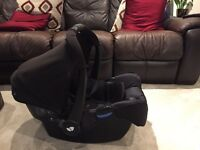 Joie infant car seat, base and pram
