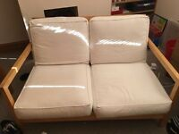 IKEA Fold Back Settee Pine Sofa