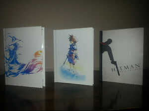 Final Fantasy X, Kingdom Hearts 1.5 & Hitman artbooks