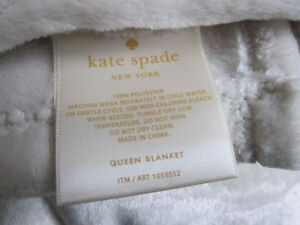 Kate Spade Plush Blankets, Queen and King Size,NEW