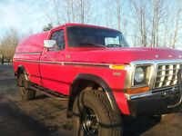 1978 Ford F-250 Red Pickup Truck