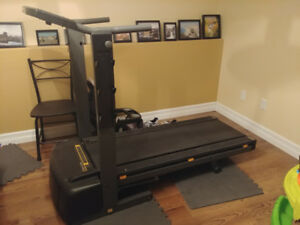 Treadmill/weight bench