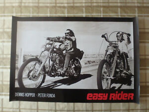 "Easy Rider 36"" X 24"" Poster With Dennis Hopper & Peter Fonda"