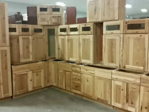 New Solid Wood Hickory Kitchen Cabinet Set