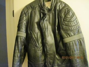 Leather Motorcycle Jacket and Vest