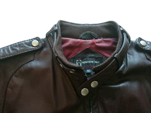 Vintage Slim Fit  Johnny Depp Members Only Leather Jacket