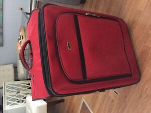 Suitcase - Ralph Lauren Polo Sport red suitcase