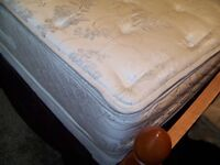 QUEEN BED AND BOX SPRING .
