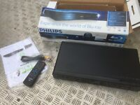 Philips blu-ray player with box and accessories
