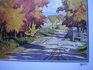 """Full Signature  A.J.Casson """"Country Road"""" Print Kitchener / Waterloo Kitchener Area image 3"""