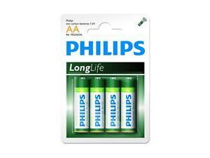 24x Batterien Typ Mignon AA, R6 UM3 1,5 Volt Philips LongLife Zinc Carbon