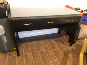 Solid glass top desk! (priced to sell)