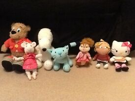 Snoopy/Angelina Ballerina/Lola/Hello Kitty and more teddy bears