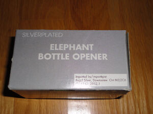 Brand new in box silver plated elephant bottle opener London Ontario image 3
