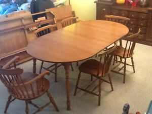 3 Piece Wood Hutch, Tables and chairs