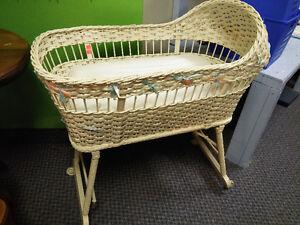 Cool Old  Wicker Crib!
