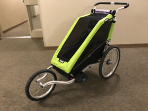 Thule Chariot Cheetah XT stroller with cycle jogging stroller