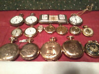 ANTIQUE  VINTAGE  POCKET  WATCHES = 1885 TO 1960