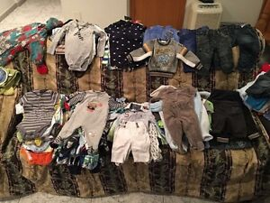 Baby boy clothing from 0-6 m
