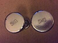 Pair of 5 KG dumbbell