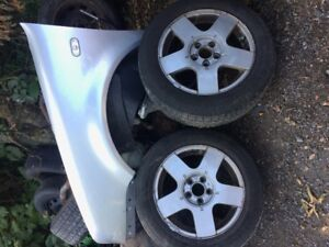 15 IN ALU WINTER RIMS IN VERY GOOD CONDITION