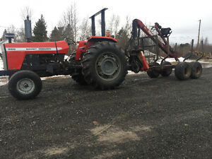 Used Tractor and log loader / Trailer combo Will Separate