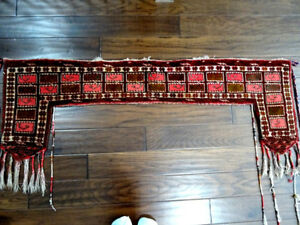 antique KAPUNUK 19thC TURKMEN tent door surround ERSARI nomadic