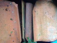 Red slate roof tiles