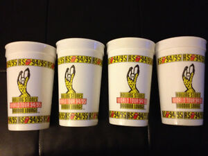 94/95 Rolling Stones tour glasses Kitchener / Waterloo Kitchener Area image 1