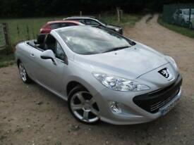 2009 PEUGEOT 308 CC GT HDI CONVERTIBLE WITH LEATHER CONVERTIBLE DIESEL