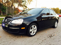2009 VW JETTA TDI, BLACK ON TAN LEATHER, 6 SPEED MANUAL,LOADED!