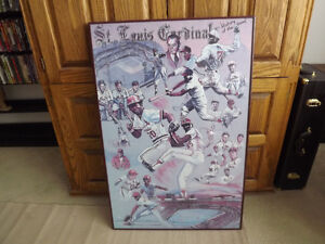 """FS: 1987 History Of The Game """"St. Louis Cardinals"""" Print with Le"""