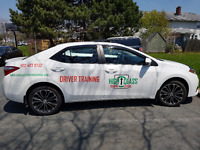 driving instructor / Car for road test / HRM