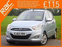 2012 Hyundai i10 1.2 Style 5 Door 5 Speed Sunroof Heated Seats Air Con Only Demo