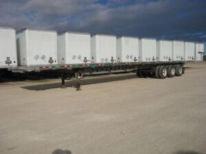 2013 Manac 53' Triaxle All Steel Flat Deck