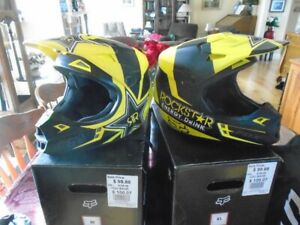 A T V HELMETS X 2 BRAND NEW IN BOX XL & MED.FOX V1