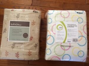 2 sets of Flannel Bed Sheets - Full (Double) Size