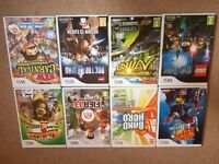 Selection of Wii games.