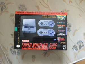 SNES CLASSIC - never opened brand new 210$