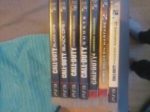 Mint condition ps 3 call of duty games
