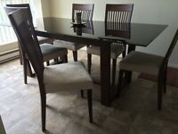 Contemporary Glasstop 7-Piece Dining Set