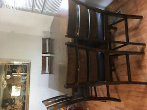 Table with 6 chair.storage in bottom table.