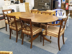 Large dining table with 6 chairs £45