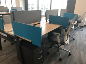 Used office furniture workstations desks chairs Reception