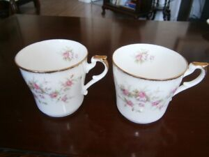 TWO PARAGON VICTORIANA ROSE MUGS