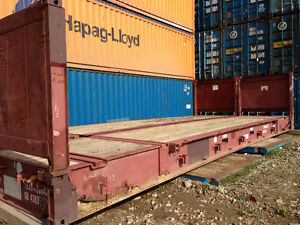 Flat Rack, 40' length, Excellent Condition, Used as Shelving