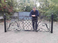 Hand made wrought iron fences, railings, stairs