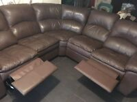 5 seater leather recliner sofa